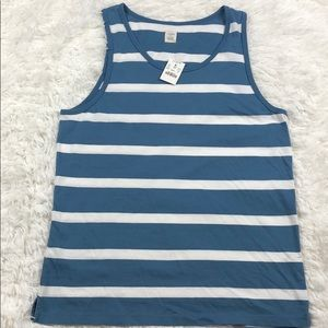J. CREW Striped Blue & White Tank Top M NWT